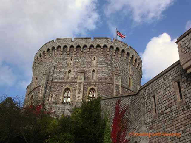 """Windsor Castle under blue skies"""