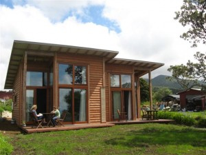 Accommodations at Solscape Eco-resort in Raglan, New Zealand
