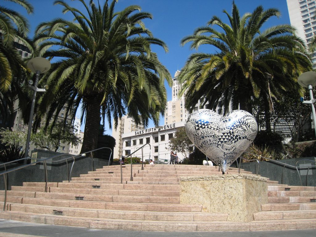 """Hearts at Union Square San Francisco"""