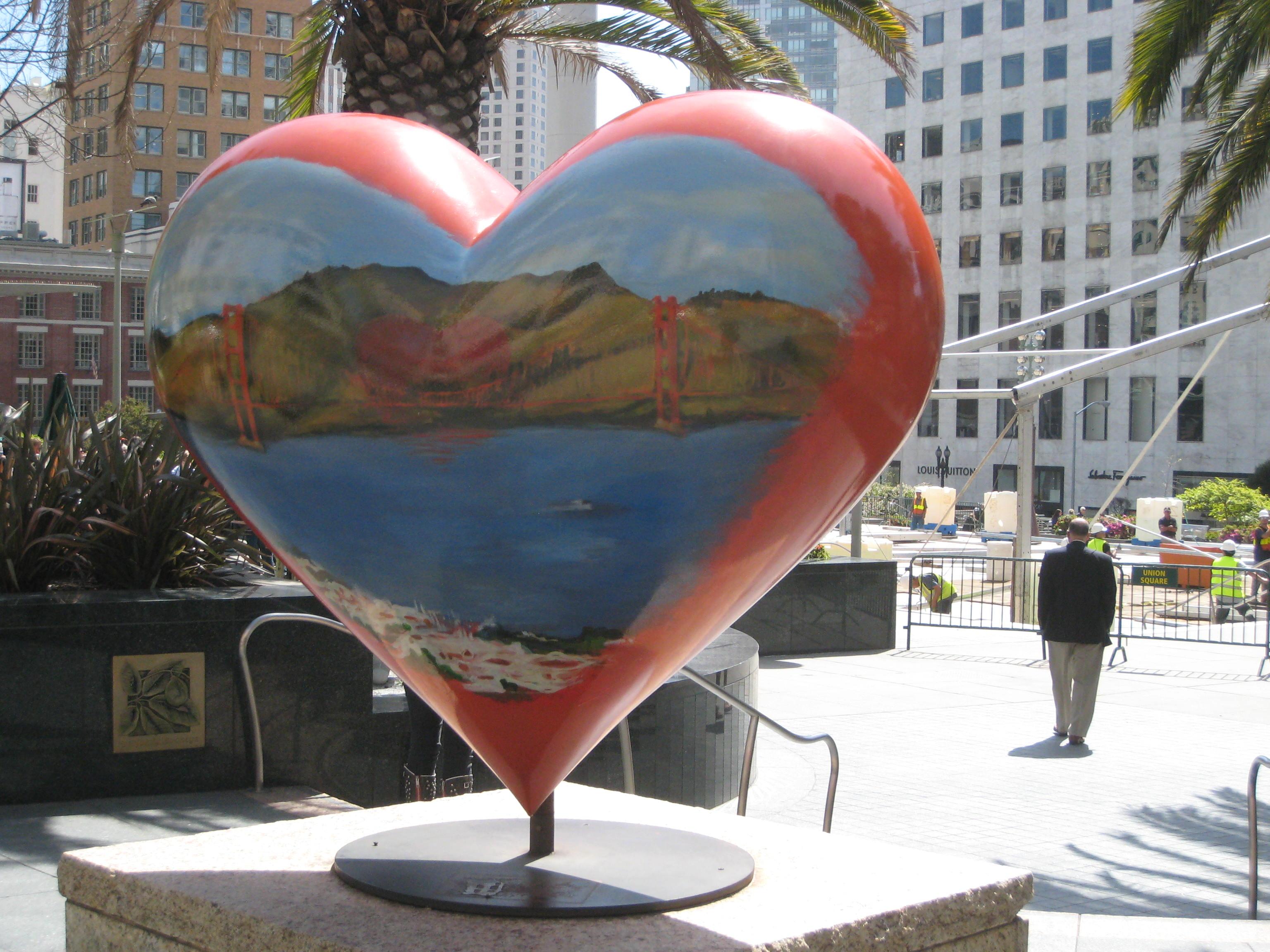 Art Hearts at Union Square San Francisco