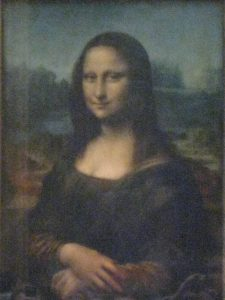 """Mona Lisa at the Louvre in Paris"""