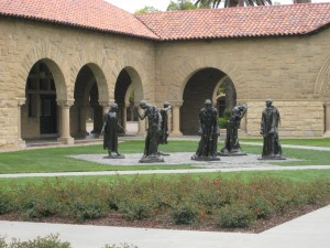 """Burghers of Calais sculptpures at Stanford University in Palo Alto, California"""