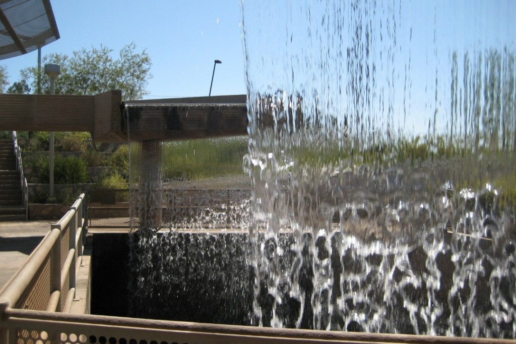 """A sheet of water at Arizona Falls, Phoenix"""