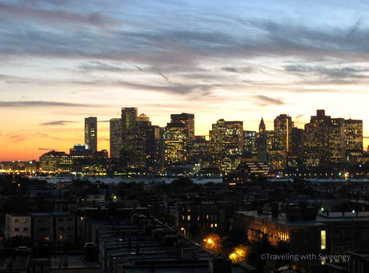 """""""Boston Skyline from the rooftops of East Boston"""""""