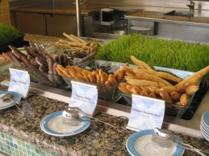 Organic buffet on Celebrity Millennium