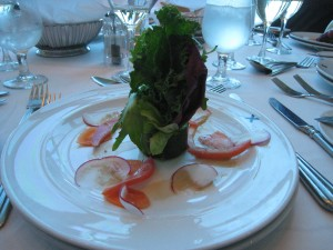 Fresh starters -- lunctime on Celebrity Millennium