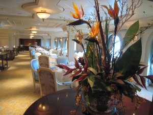 Floral touches on board the Celebrity Millennium