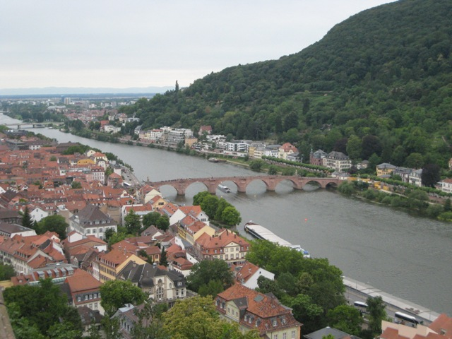 """Heidelberg, Germany seen from Heidelberg Schloss"""