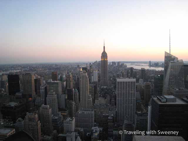 """""""No wonder I love New York -- look at this view from Top of the Rock"""""""