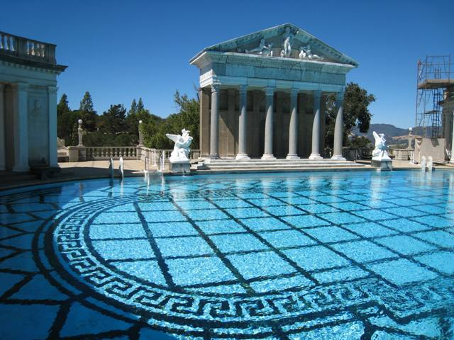 From humble schoolhouse to hearst castle - Hearst castle neptune pool swim auction ...