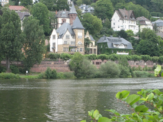 """Homes along the Neckar in Heidelberg, Germany"""