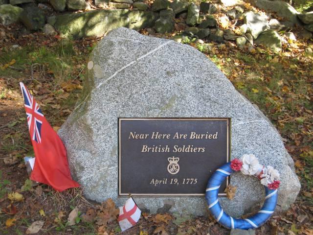 """British Soldiers Marker at Minuteman National Park"""