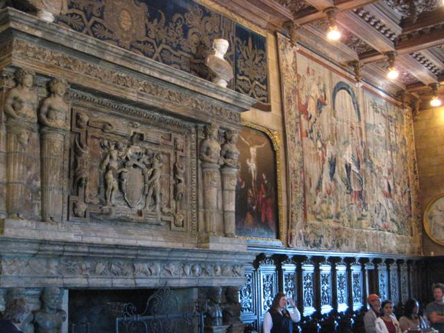 """Interior of Casa Grande at Hearst Castle in San Simeon, California"""