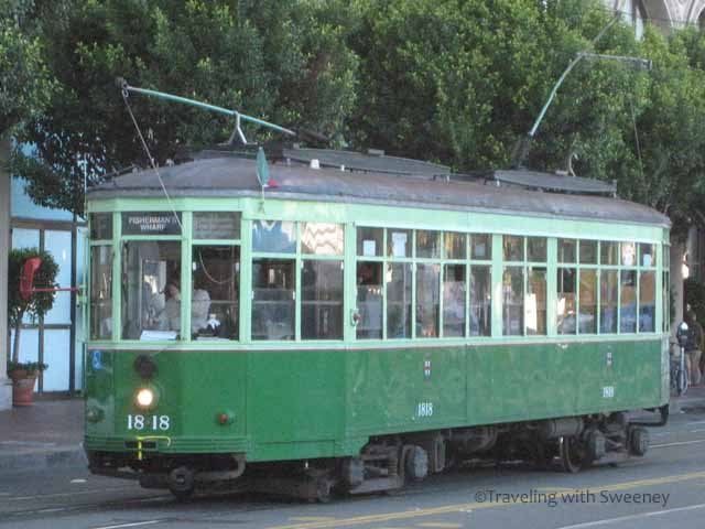 """Vintage San Francisco streetcar for Milan, Italy"""