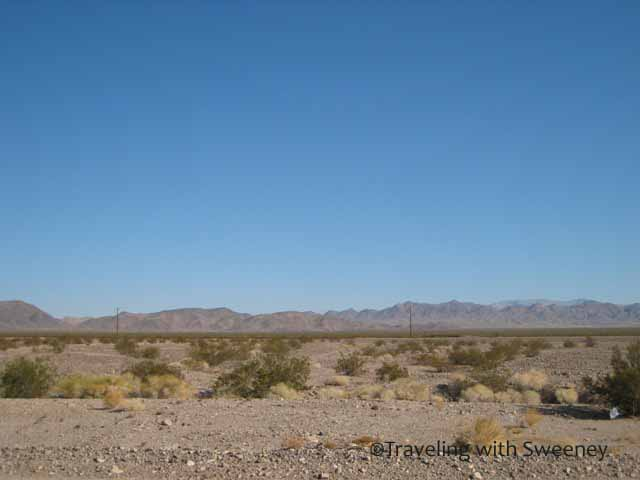 """""""Morning on a Desert Road Trip Through the Mojave"""""""