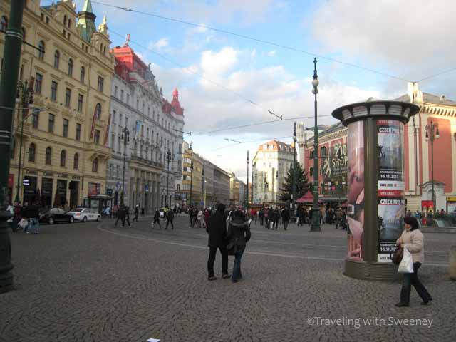 """City streets that I walked during two days in Prague"""