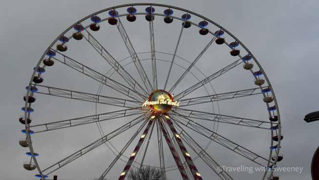 Ferris wheel at Christmas market in Lubeck, Germany