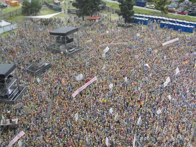 """Concert display at Miniatur Wunderland in Hamburg, Germany"""