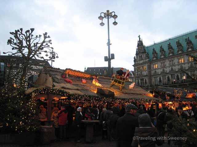 Christmas in Germany -- Weihnachtsmarkt at Rathaus, Hamburg