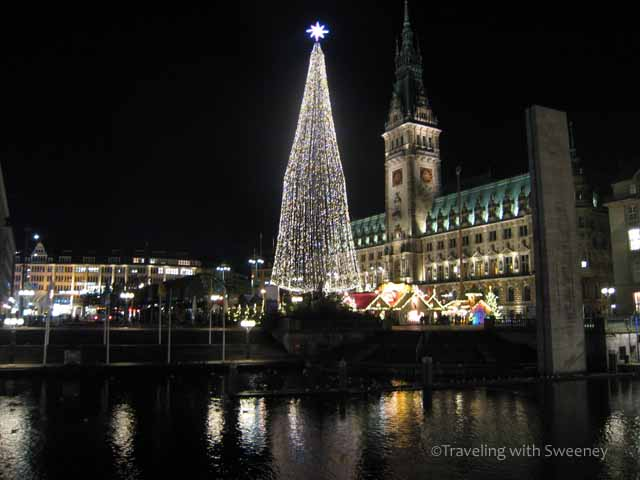 """""""Christmas in Germany at Rathaus in Hamburg, Germany"""""""
