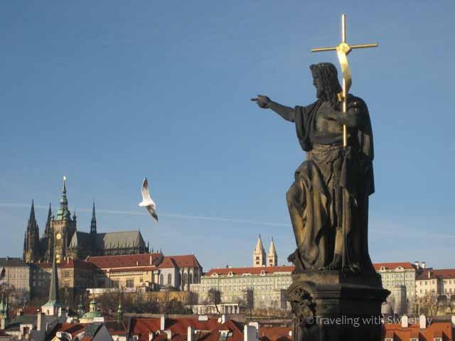 """""""St. John the Baptist on Charles Bridge crossing the Vltava River in Prague"""""""""""