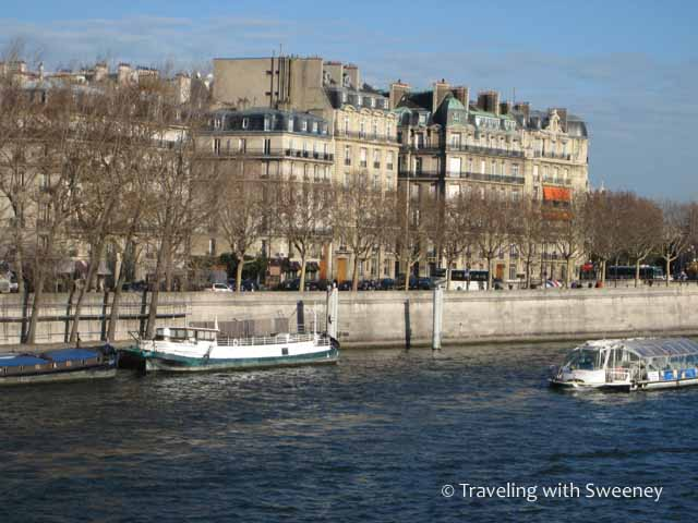The Seine in Paris on a clear winter's day