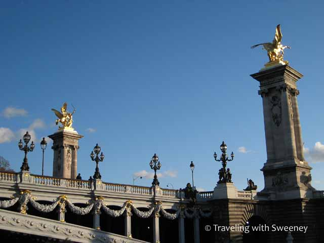 Pont Alexandre III across the Seine in Paris, France
