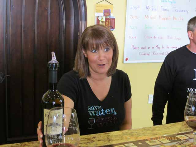 Kristen at McGrail Vineyards