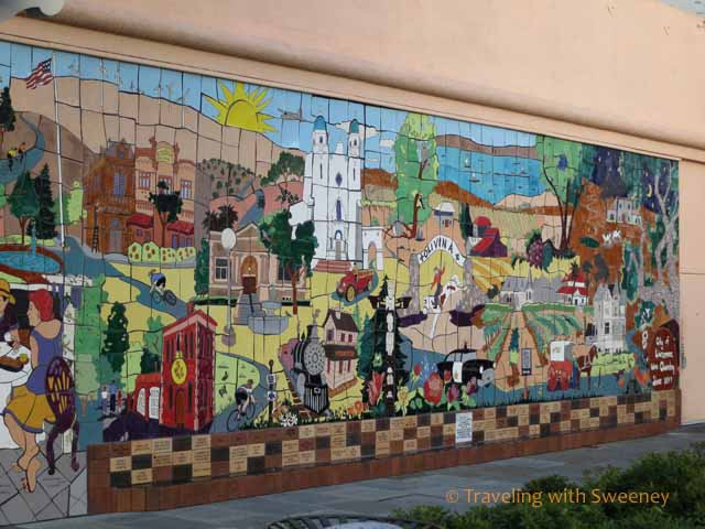 Mural on building in downtown Livermore