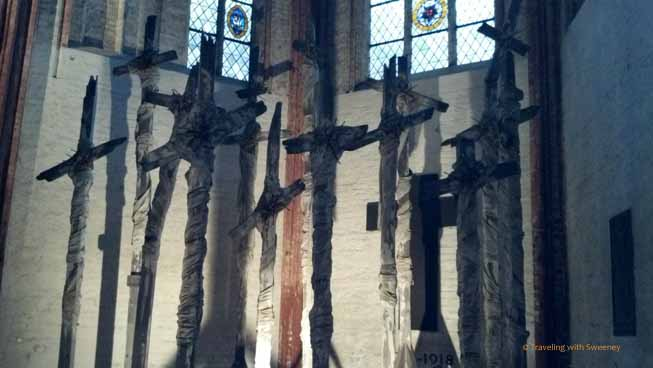 """14 Broken Crosses at St. Marienkirchein Lubeck, Germany"""