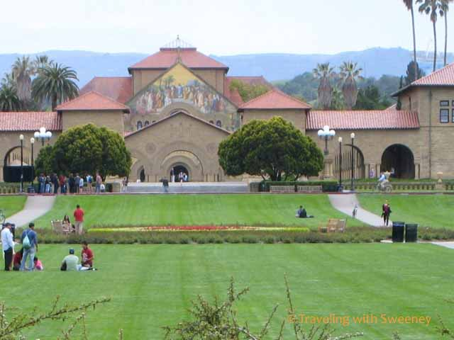 Stanford University chapel and quad in Palo Alto, California -- things to do south of San Francisco