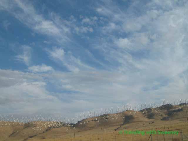 Windmills in Mojave Desert