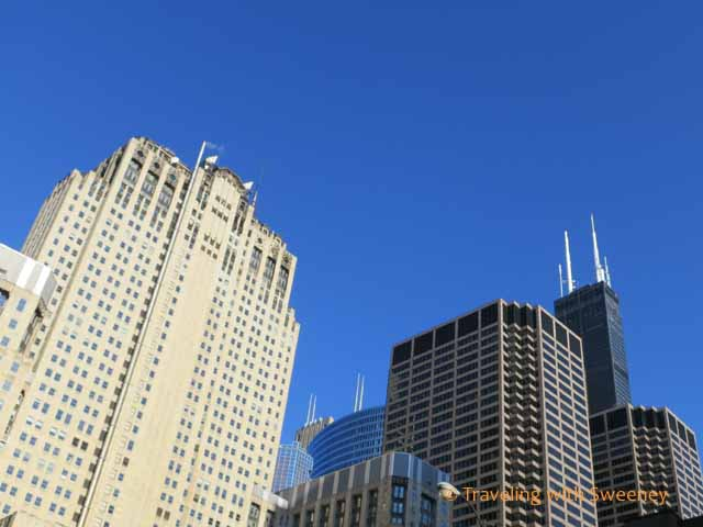 Willis Tower and other buildings in Chicago