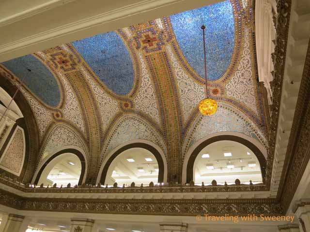Tiffany Glass Mosaic Ceiling at Macy's