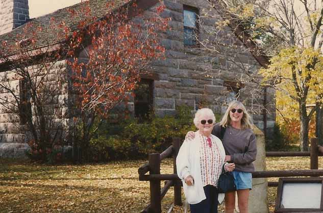 Cathy and Mom at Fort Abraham Lincoln State Park in North Dakota