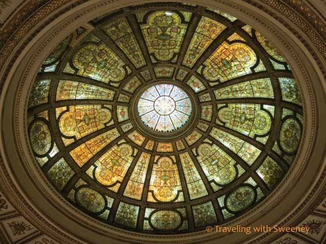 Dome in GAR Memorial Hall at Chicago Cultural Center