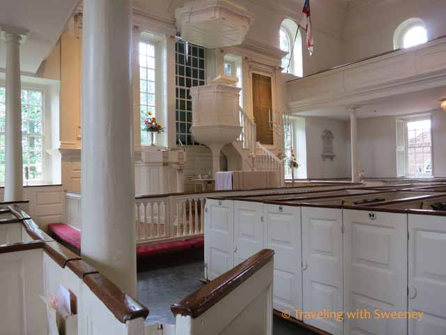 Christ Church Pulpit from George Washington's Pew