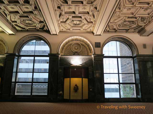 GAR Memorial Hall ceiling and windows