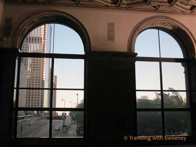 Through the windows of GAR Memorial Hall