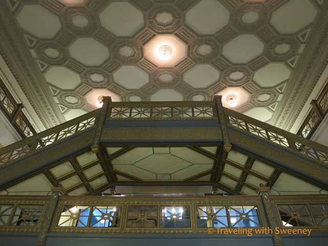 Stairs and Ceiling of Chicago Cultural Center