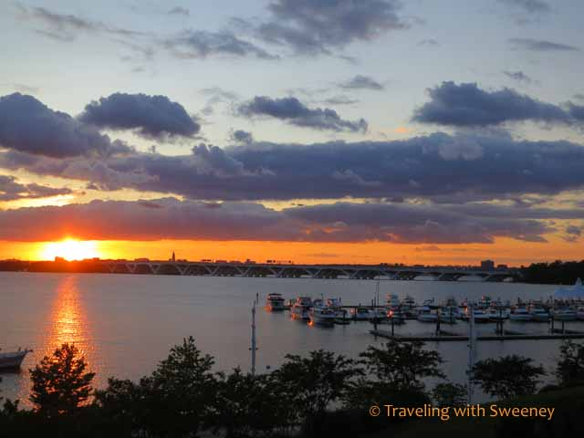 Sunset on the Potomac River