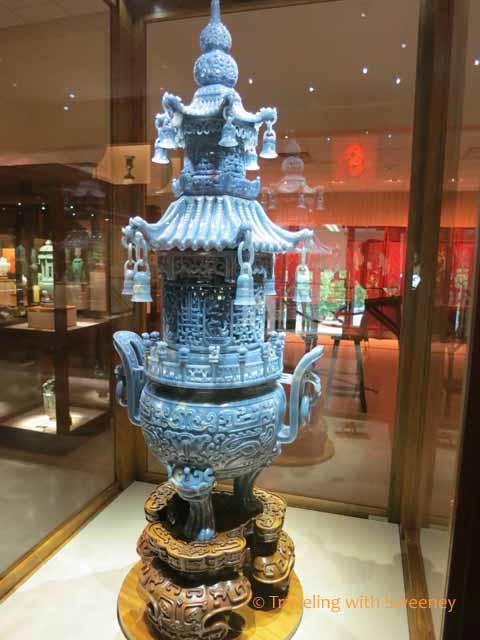 Blue Jadeite Pagoda Censer