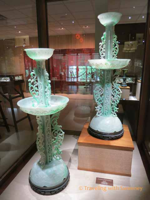 jade candle holders