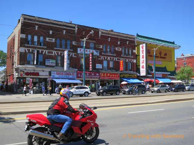 Motorcycle in Chinatown Toronto