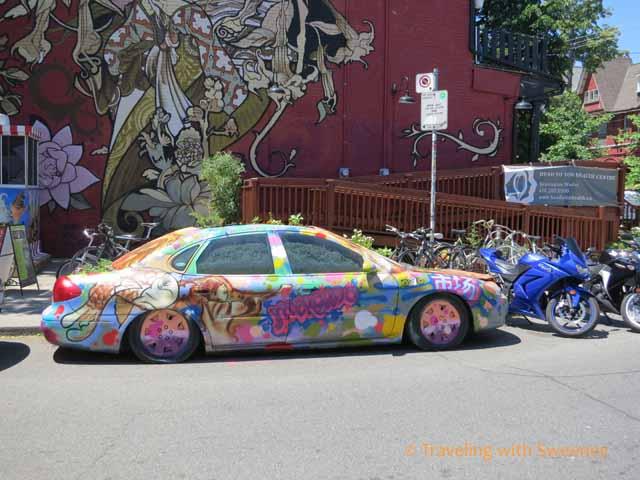 Painted Car in Kensington Market