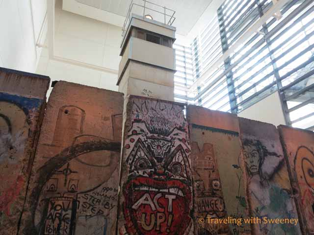 Sections of the Berlin Wall at Newseum, Washington D.C.