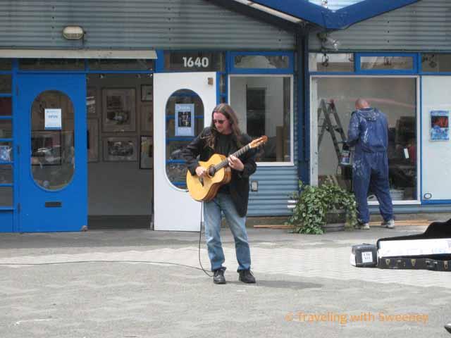 musician on Granville Island