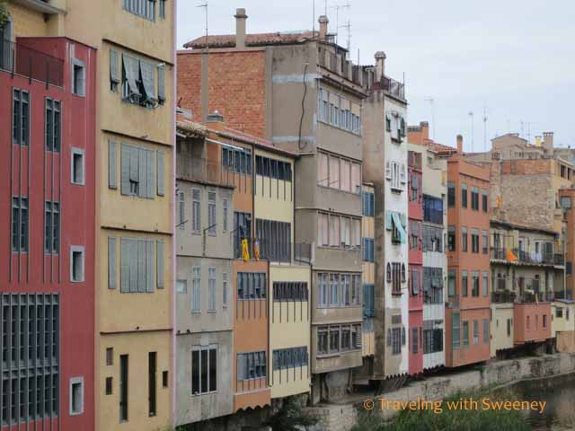 Buildings along the river in Girona
