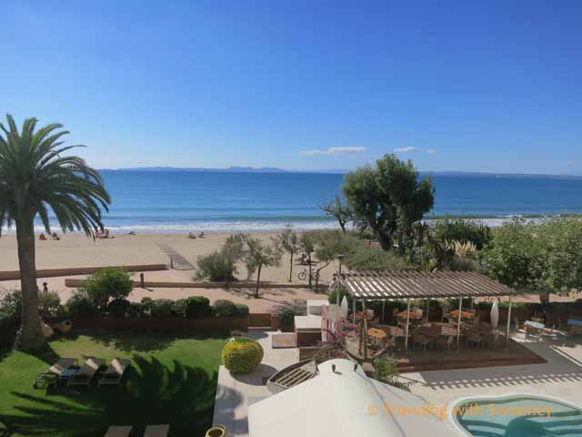 View of Mediterranean from Hotel Terraza