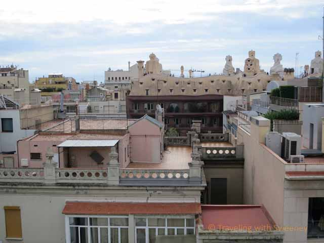 La Pedrera from Hotel Omm's Rooftop